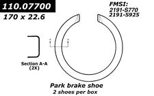 Centric Parts 111.07700 Rear Parking Brake Shoes
