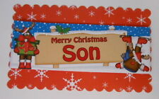PACK 2  MERRY CHRISMAS SON TOPPER EMBELLISHMENTS  FOR CARDS AND CRAFTS