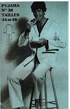"""Patron de Couture """"Femmes d'aujourd'hui"""" N°38 Pyjama Homme T 44 et 48"""