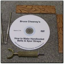 Video $33.00 Making Tooled Leather Belts and Spur Straps Dvd Leathercraft