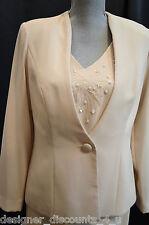 Karen Miller Champagne formal Beaded Mother of the bride gown & jacket  Size 8