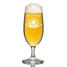 Leonardo vidrio Pilsner Copa de cerveza incl. Grabado Jarra 100% Sabor