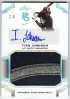 2016 Leaf Perfect Game National Showcase Silver Holo Patch AUTO /5 Ivan Johnson