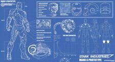 "005 Blueprint - Iron Man Armor Mark VI poster 44""x24"" Poster"