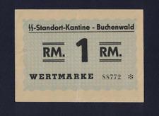 WW2 GERMANY 1944 BUCHENWALD 1 RM KL PRAMIENSCHEIN CONCENTRATION CAMP GHETTO RR