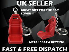 Recaro Style Red Bucket Seat Metal Key Ring Gift Racing Seat Car