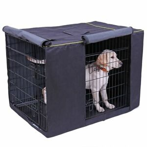 Durable Dog Cage Cover Kennel Waterproof Oxford Outdoor Washable Pet Accessorie