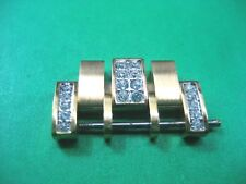 WITTNAUER 12B14 PARTS LINK MEN'S WATCH GOLD PLATED & CRYSTAL 20.00 MM LINK