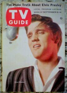 TV Guide 1956 Elvis Presley Sullivan Captain Kangaroo #180 Original NM COA