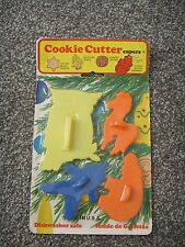Vintage NEW Plastic Cookie Cutter Capers STAMP Horse Owl Clown Hippo Collectible