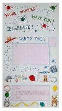 Invitaciones de fiesta color principal multicolor de cumpleaños infantil