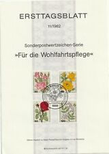 1982 Germany/West Berlin FDC/ETF cachet Charity Stamps - Roses