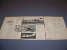 VINTAGE..1970 CESSNA SKYWAGON SERIES..HISTORY/PHOTOS/DETAILS/SPECS..RARE! (340N)