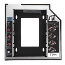 Universal 2.5 2nd 9.5mm Ssd Hd SATA Hard Disk Drive HDD Caddy Adapter Bay #