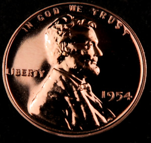 1954 Lincoln Wheat Penny Cent // Gem Proof++ *Red* //. 1 Coin