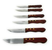 Tramontina Steak Knife Pointed End High Carbon Stainless Wood Handle Serrated 6