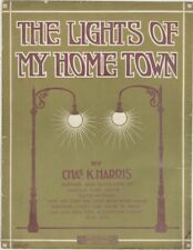 The Lights Of My Home Town, 1915, vintage sheet music