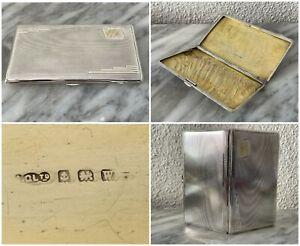 Antik 925 Sterling Silber Dose / Zigarettenetui, Birmingham 1921