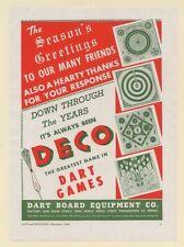 1946 Dart Board Equipment Co DECO Dart Games Toy Trade Print Ad