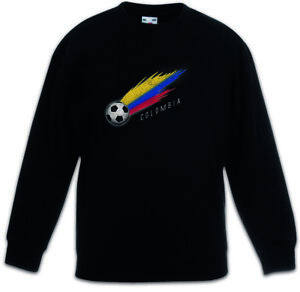 Colombia Football Comet I Kids Boys Girls Pullover colombian Soccer Flag