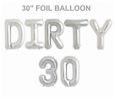 """Dirty 30 NEW AGE 30"""" Birthday Foil Balloons Parties Decorations Functions GOLD"""
