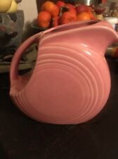 "Vintage FIESTA Rose Pink Fiestaware Large Disc Pitcher 5.5"" Tall Homer Laughlin"