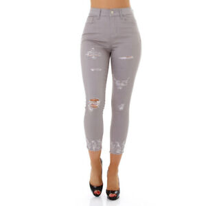 Jeans Ladies High Waist Skinny Jeans 7/8 Jeans Trousers Used Look