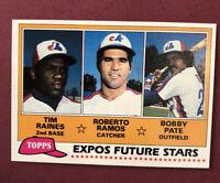 1981 Topps #479 Tim Raines Montreal Expos RC HOF Future Stars