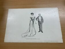 1902 CHARLES DANA GIBSON ANTIQUE LARGE DOUBLE-SIDED PRINT GIBSON GIRL #11