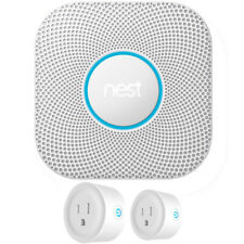 Google Nest Protect 2nd Gen. Smoke/Carbon Monoxide Alarm Battery + 2 Pack Smart