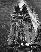 WWII B&W Photo USS Menges DE-320 After Being Torpedoed by U-Boat  WW2 USN /7090A