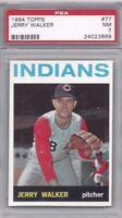 1964 Topps baseball card #77 Jerry Walker, Cleveland Indians PSA 7 NM