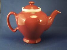 Vintage McCormick Ceramic Tea Pot with Infuser Mauve Maroon Made in Baltimore