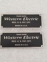 Western Electric Badges (pair) BLACK (Listing #1)