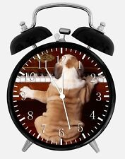 "English Bull Dog Alarm Desk Clock 3.75"" Home or Office Decor W333 Nice For Gift"