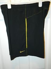 NIKE Men's Sz Large Black Polyester/Spandex Shorts Trunks Excellent Con 7 inch