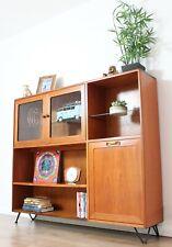 Vintage Retro G plan Bookcase Sideboard Teak Scandi Shelving Hairpin legs