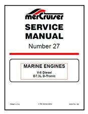 Mercury Mercruiser 27 Marine Engines V 8 Diesel D7 3l D tronic Service Manual