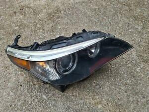 BMW E60 2004-2005 525i 530i 545i AFS Adaptive Xenon left headlight complete READ