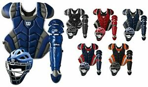 Wilson C1K Pro Stock Adult Baseball Catcher's Gear Set Kit