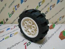 lego roue noir jante blanche 20x30 # 6582 6581 pour set 8829 6584 8280 8443 8282