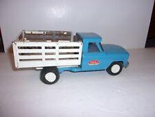 Vintage Tonka Jeep Blue Tilt Bed Cattle Truck