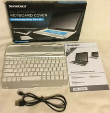 silver crest bluetooth keyboard cover dor samsung galaxy tab 3 10.1