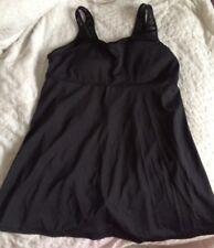 Roamans Women's Black Swimsuit Swim Dress Size 18W GUC!!