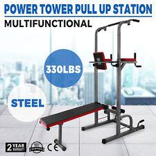 Fitness Rack Power Station DIP push up Pompes Poignées Vélo d/'appartement lingots Core