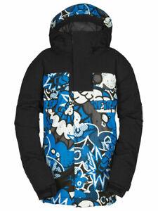 Bonfire Ranger Insulated Snowboard Jacket Boys Youth Medium, Kapow Print New