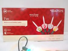 CHRISTMAS TREE BUBBLE LIGHTS STRING BULB SET 7 C7 SIZE BULBS MULTI COLORED