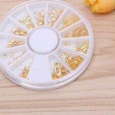 New 3D Nail Art Stud Rhinestone Sticker Gold Patch Hollow metal frame Decoration
