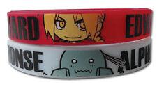 **Legit** Fullmetal Alchemist SD Edward & Al PVC Wristband Set of Two #54239