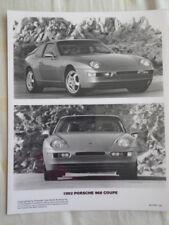 Porsche 968 Coupé Foto de prensa mercado FOLLETO 1992 EE. UU.